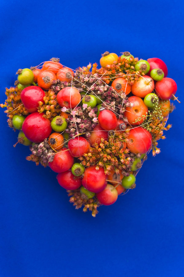Heart-shaped Flower Arrangement Stock Images