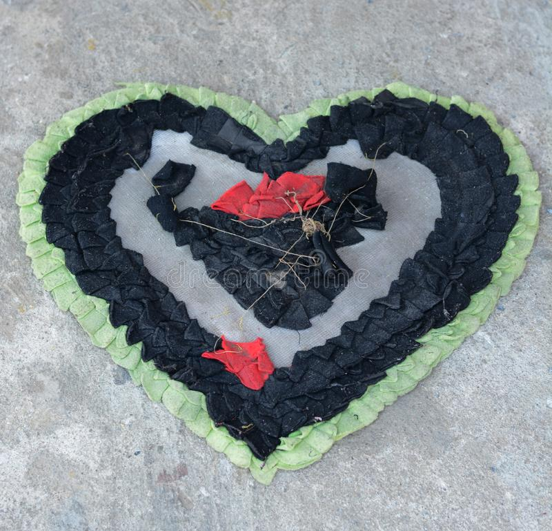 Heart shaped foot Wipes. Close up Heart shaped foot Wipes royalty free stock photos