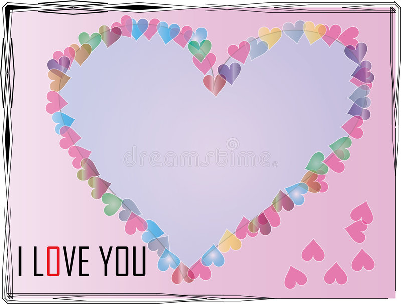 Heart-shaped frame-empty page stock image