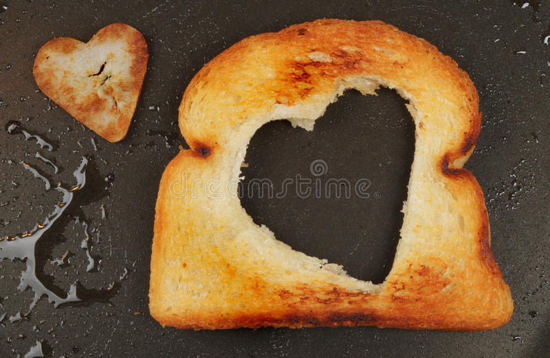 Download Heart shaped fried bread stock image. Image of fried - 26258553