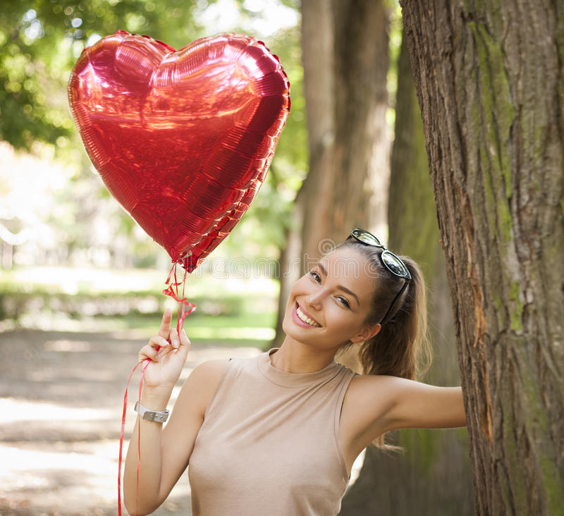 Heart shaped fun. royalty free stock photography