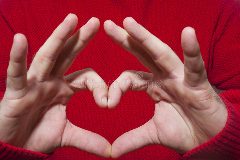 Download Heart Shaped Gesture stock image. Image of emotion, concept - 36511275