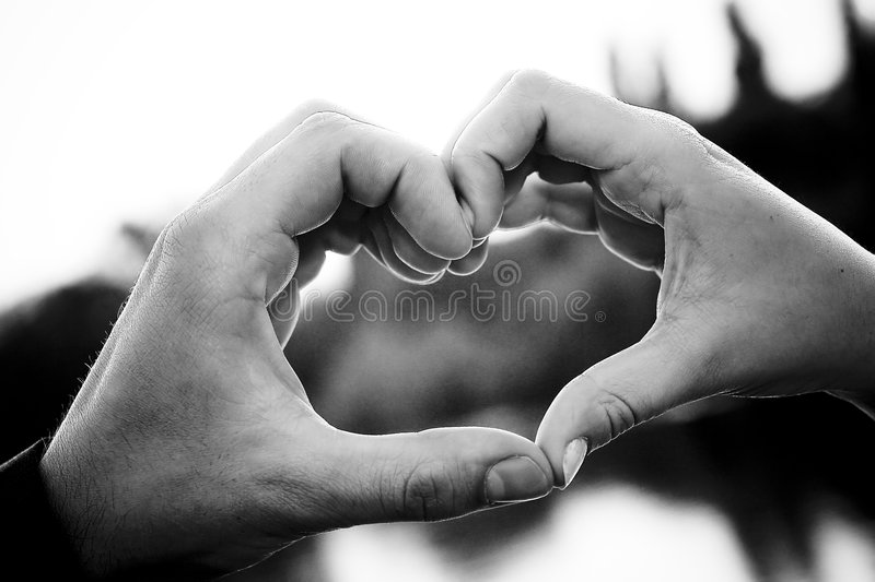 Heart Shaped Hands royalty free stock image