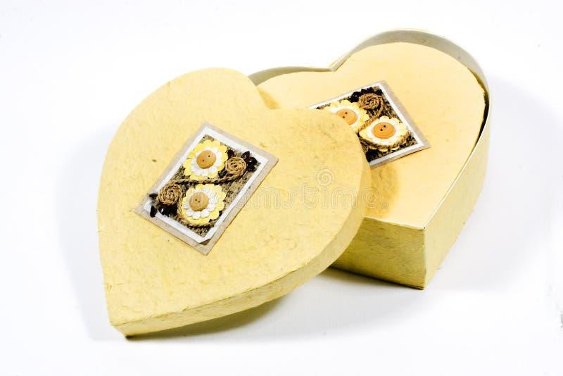 Heart-shaped Kasten lizenzfreie stockfotos