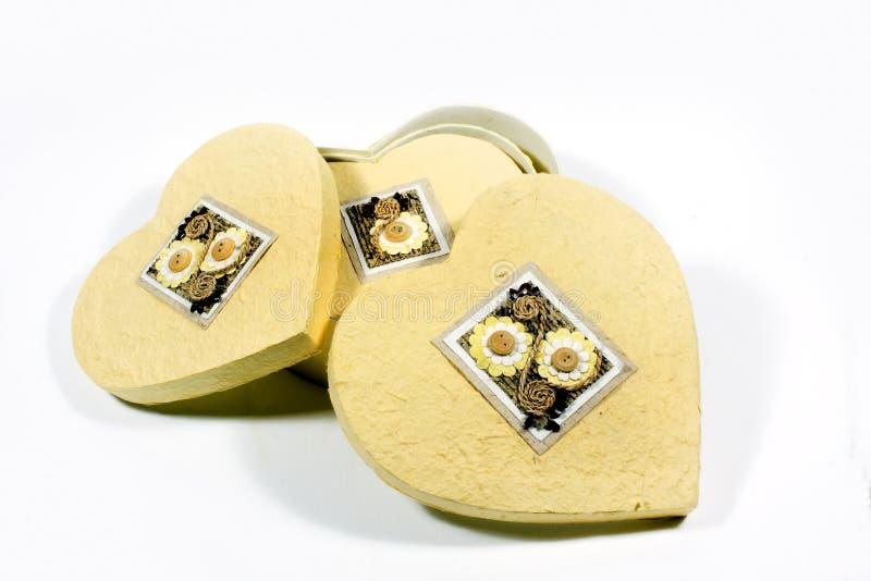Heart-shaped Kasten lizenzfreies stockfoto