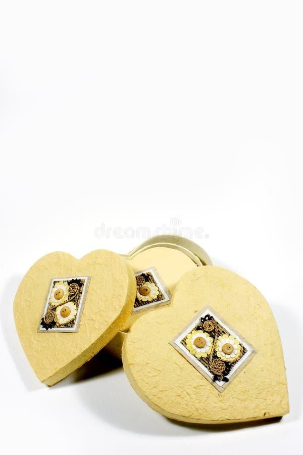 Heart-shaped Kasten lizenzfreie stockbilder