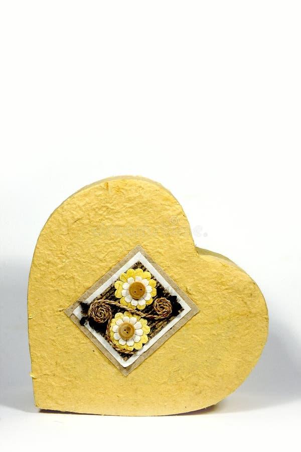 Heart-shaped Kasten lizenzfreie stockfotografie