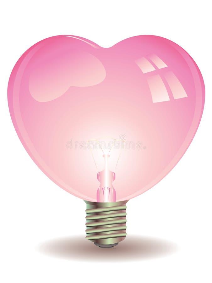 Download Heart Shaped Lightbulb Stock Vector. Illustration Of Creative    66350691