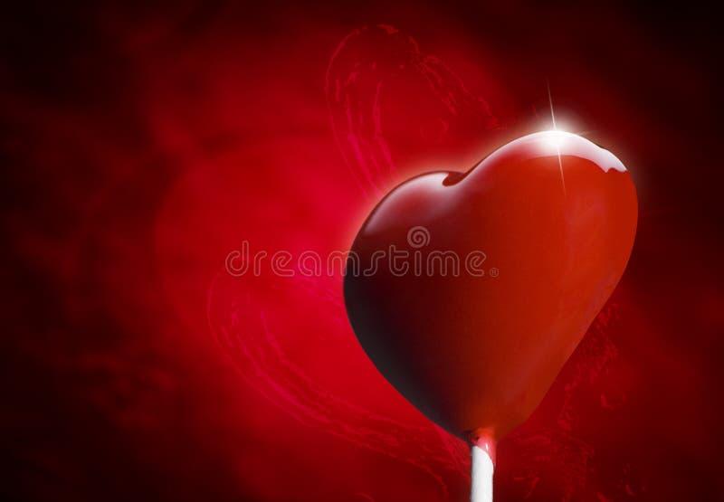 Download Heart-shaped Lollipop Hit By An Arrow Stock Illustration - Image: 22814017