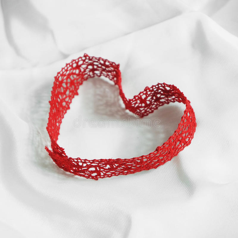 Heart-shaped loop royalty free stock photography
