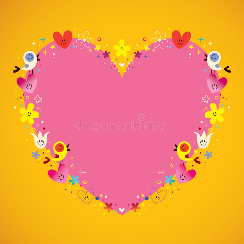 Free Heart Shaped Love Frame Stock Photography - 68672982