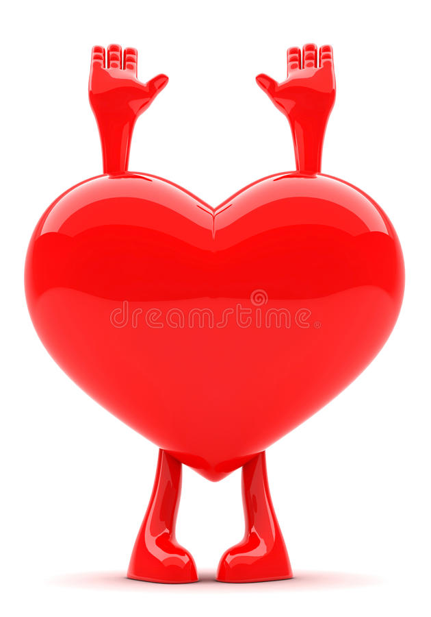 Download Heart Shaped Mascot Royalty Free Stock Photography - Image: 23770057