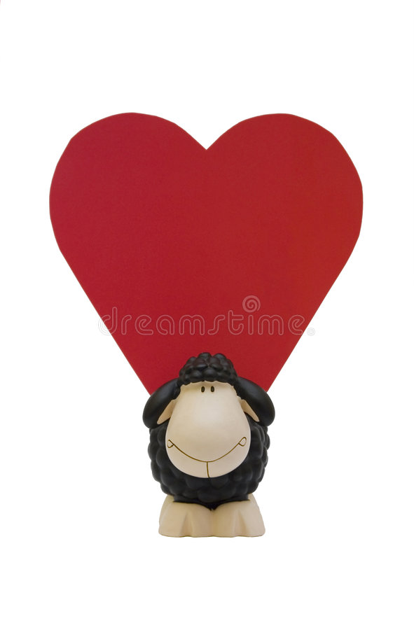 Heart Shaped Message Stock Photography