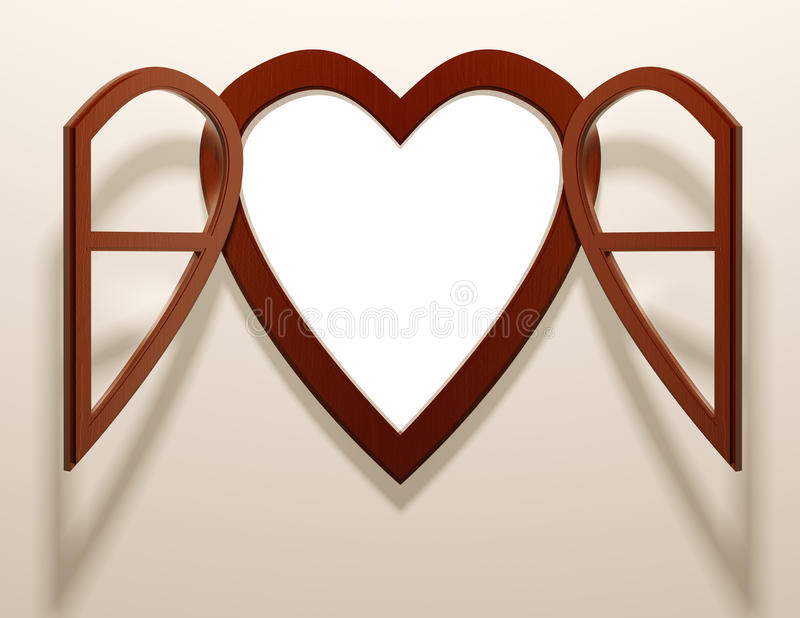 Download Heart Shaped Open Window. Stock Photography - Image: 26563702