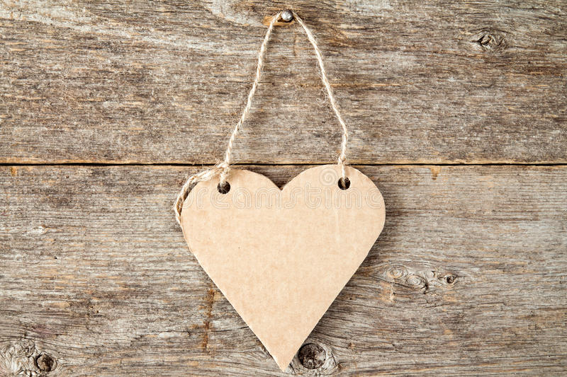 Heart shaped paper signboard royalty free stock photo