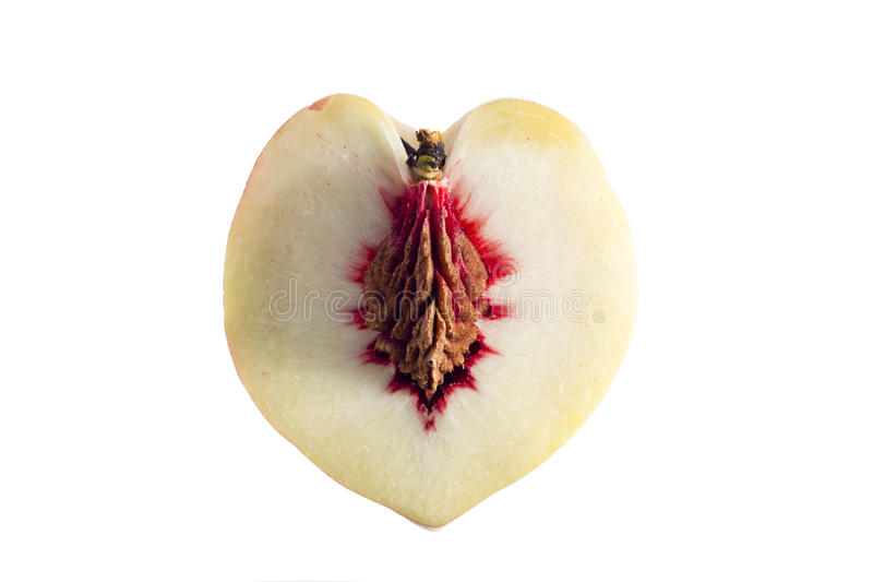 Heart Shaped Peach royalty free stock photography
