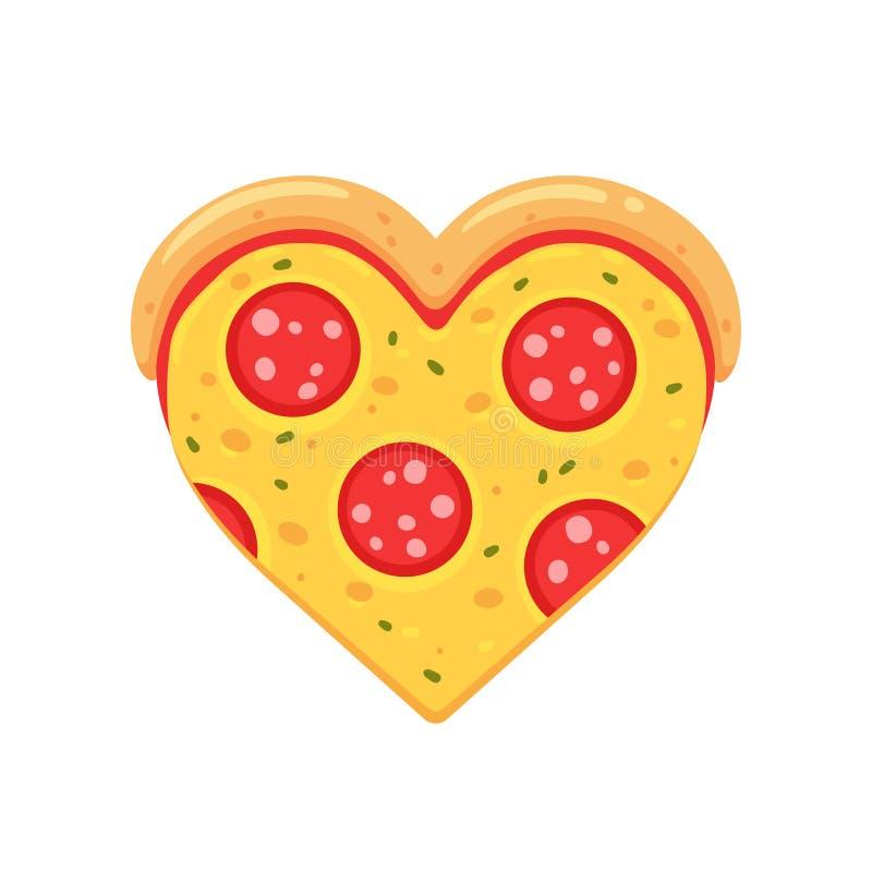 Pepperoni Pizza Love Stock Vector Illustration Of Element 139636173