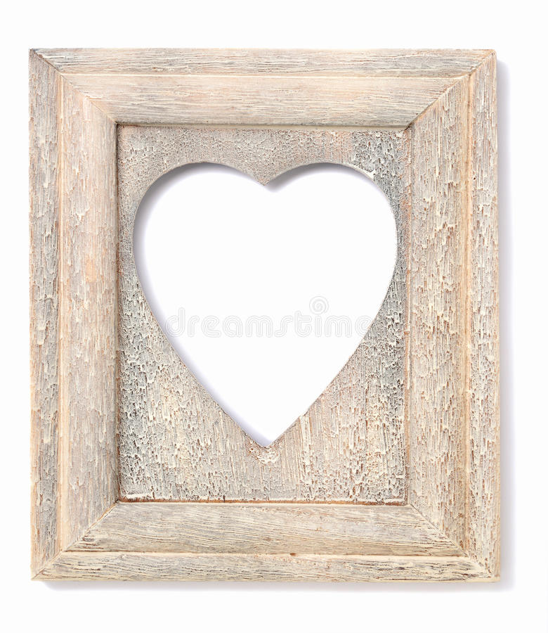 Heart shaped picture frame stock photo. Image of rustic - 45911292