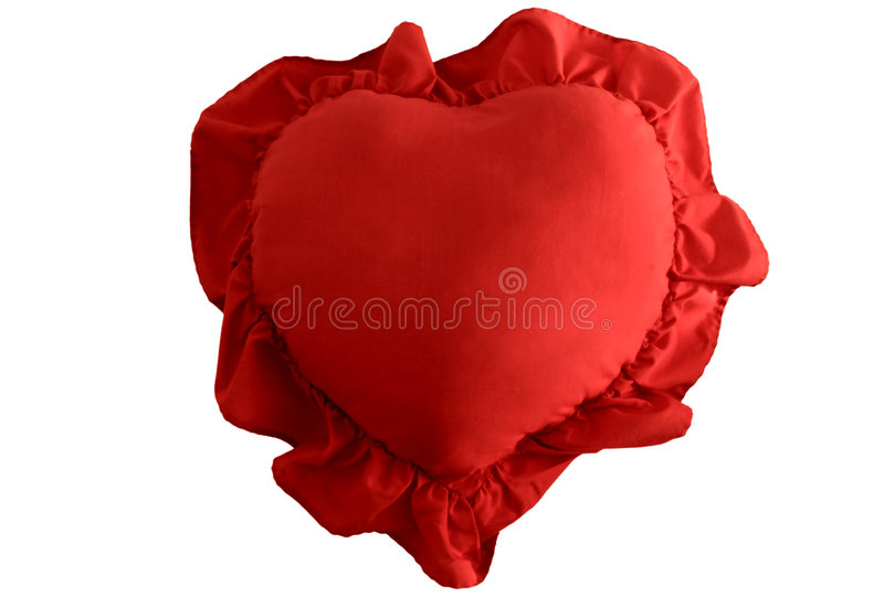 Heart Shaped Pillow. Valentine's Day heart shaped pillow stock images
