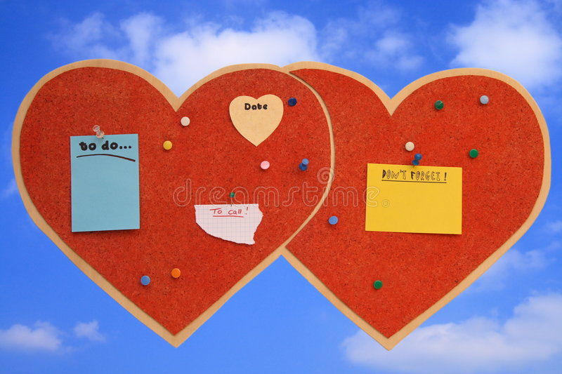 Download Heart-shaped pinboard stock image. Image of date, forgetful - 2248273