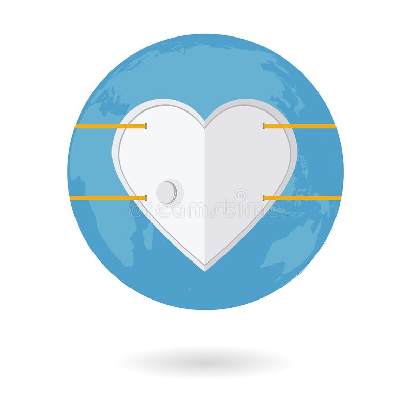 Free Heart Shaped Protective Air Mask Protecting The World Against Virus Outbreak Royalty Free Stock Images - 171770859