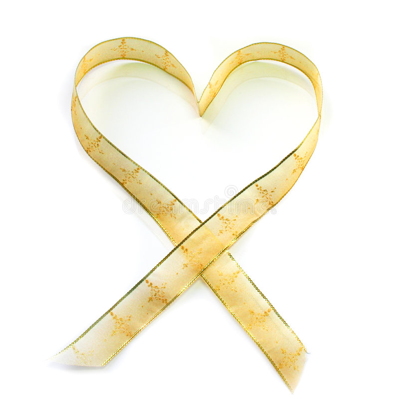 Heart shaped ribbon stock image