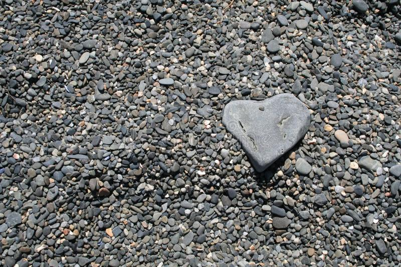 Download Heart shaped rock on beach stock photo. Image of stones - 25791890