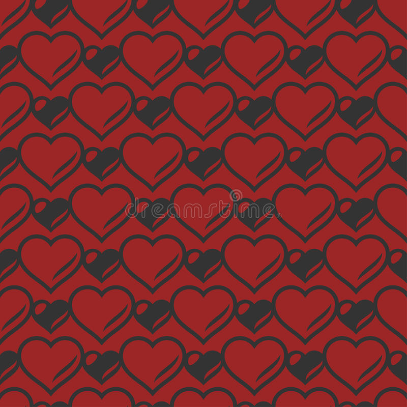 Download Heart Shaped Seamless Pattern. Vector Illustration. Stock Vector - Image: 83717672