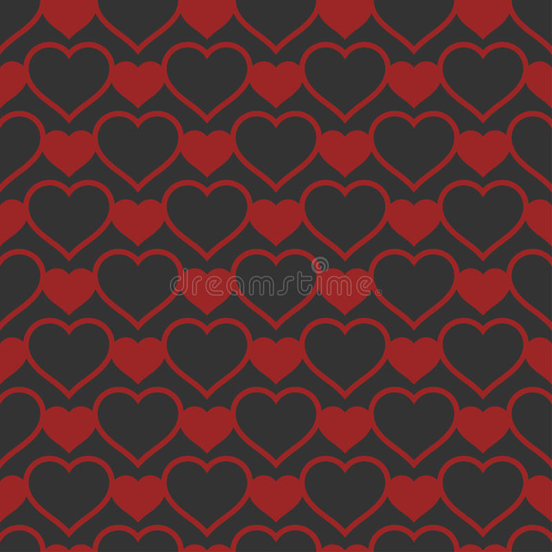 Download Heart Shaped Seamless Pattern. Vector Illustration. Stock Vector - Illustration of creative, hipster: 83718655