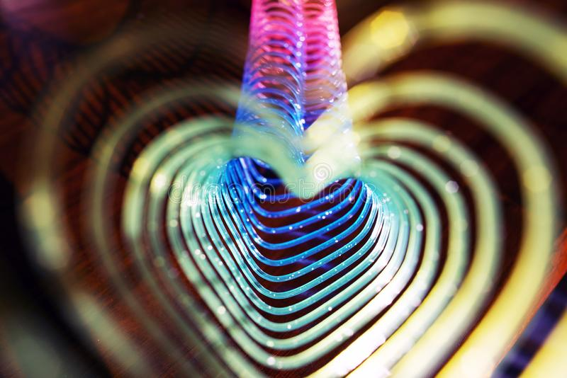 Heart shaped spiral as a tunnel royalty free stock photos