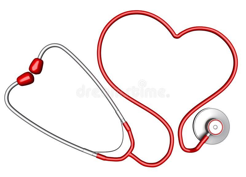 Heart-shaped Stethoskop vektor abbildung