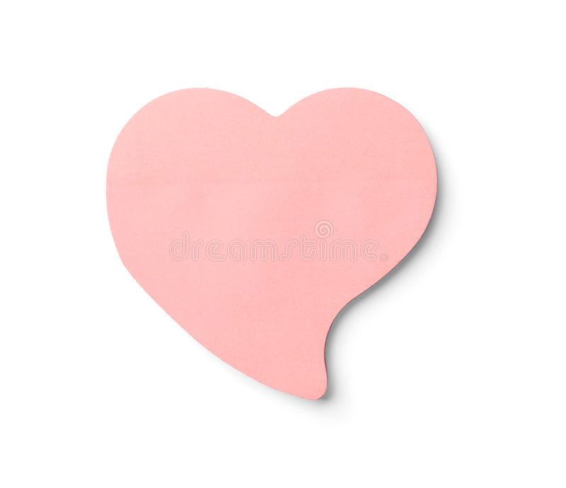 Heart shaped sticky note royalty free stock photos