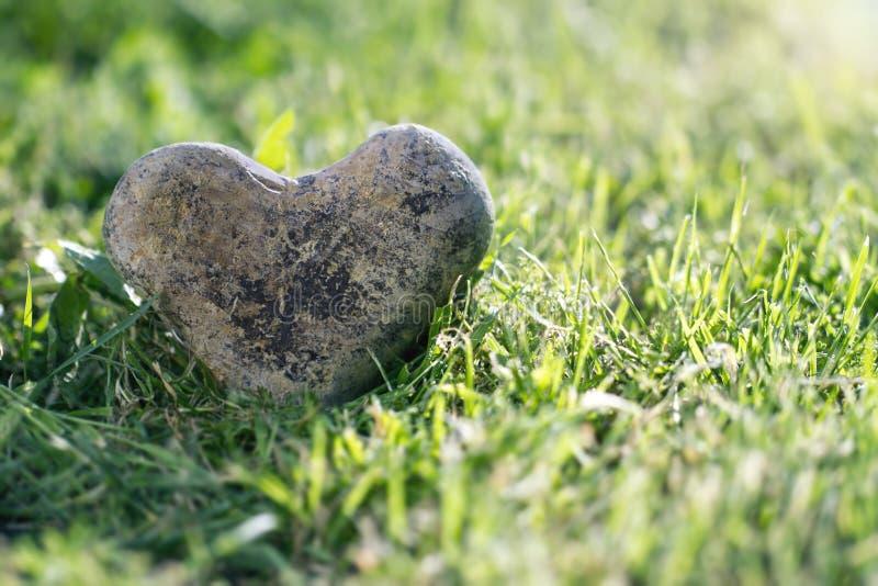 Heart shaped stone stock photo