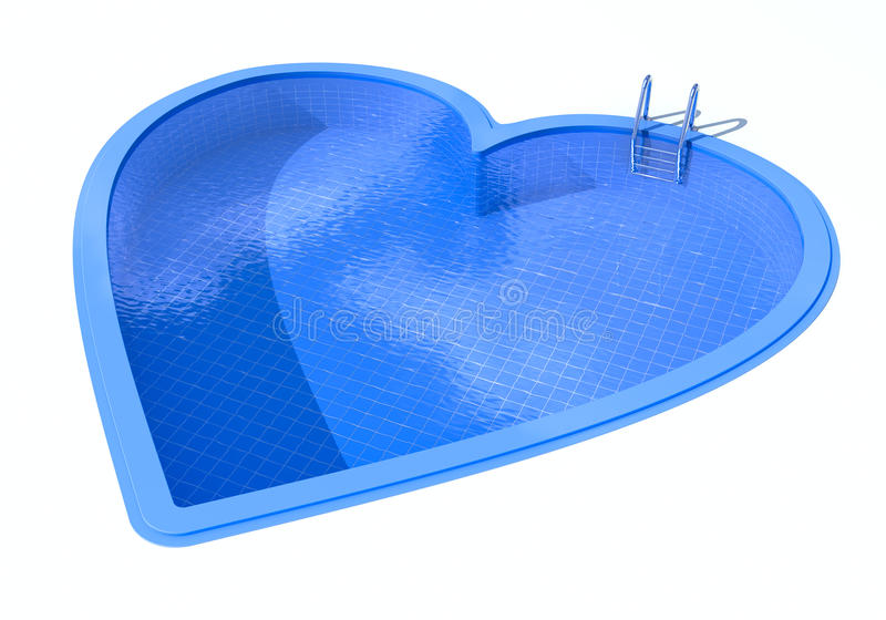 Download Heart Shaped Swimming Pool Stock Illustration. Illustration Of  Clear   10634399