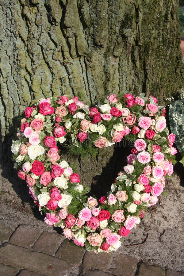 Download Heart Shaped Sympathy Floral Arrangement Stock Photo - Image: 19048188
