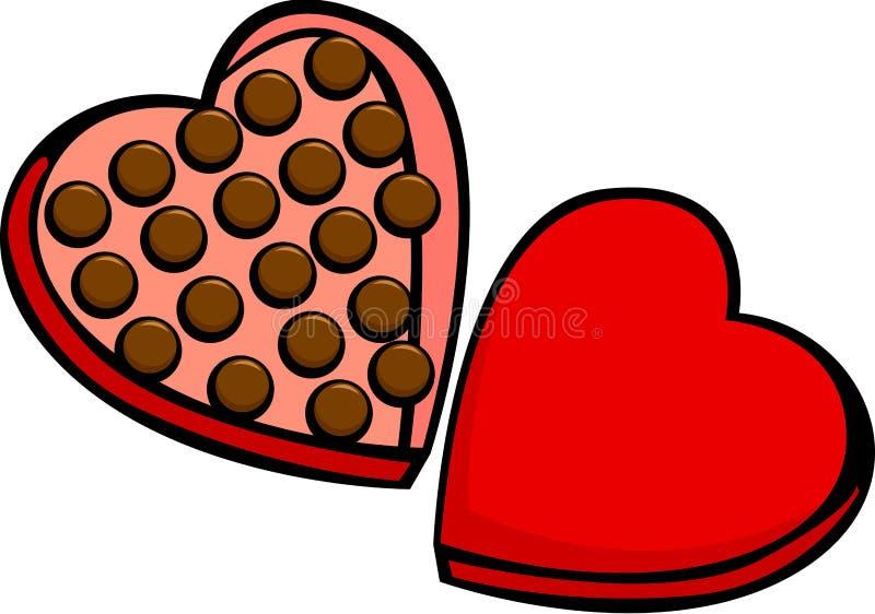 heart shaped valentine chocolate box stock vector illustration of rh dreamstime com Chocolate Heart Border Broken Heart