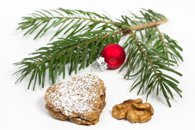 Download Heart Shaped Walnut Christmas Cookie Stock Photo - Image: 22504290