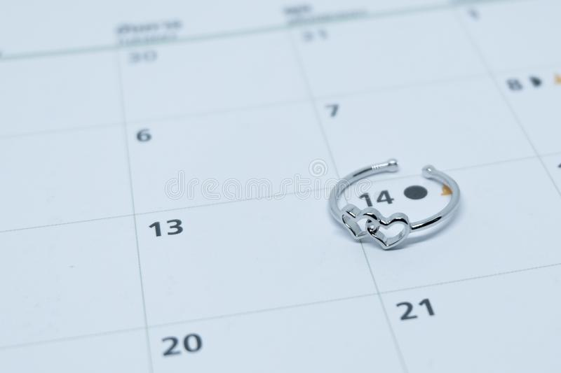 Heart shaped wedding ring royalty free stock images