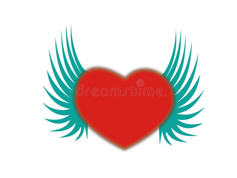 Download Heart shaped with wing stock vector. Illustration of symbol - 6902981