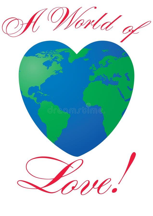 Heart shaped world on white background stock photo