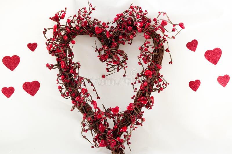 Heart shaped wreath royalty free stock photos