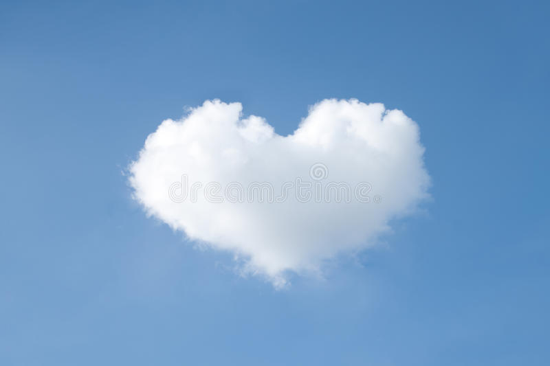 Heart shapes cloud on sky. Heart shapes cloud on blue sky stock images