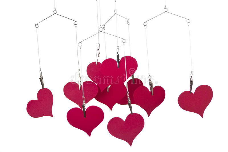 Download Heart Shapes Hanging Stock Images - Image: 28594484