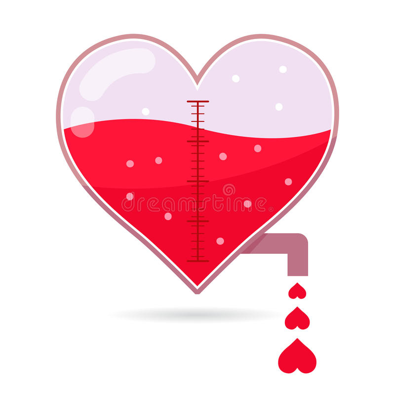 Heart Shapped Tap Dripping Small Love royalty free illustration