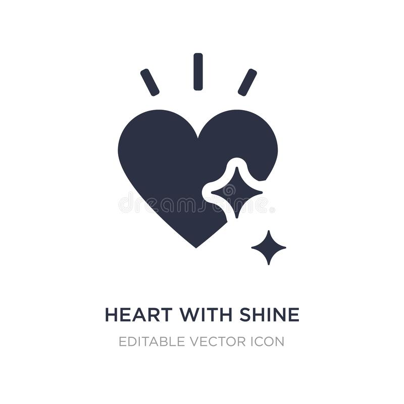 heart with shine icon on white background. Simple element illustration from Shapes concept vector illustration