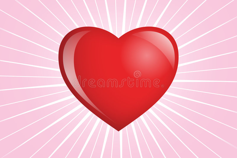 Heart Shinnng On Pink Royalty Free Stock Photography