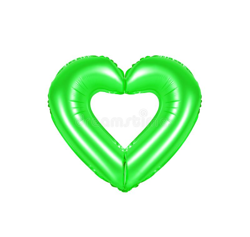 Heart sign, green color royalty free stock image
