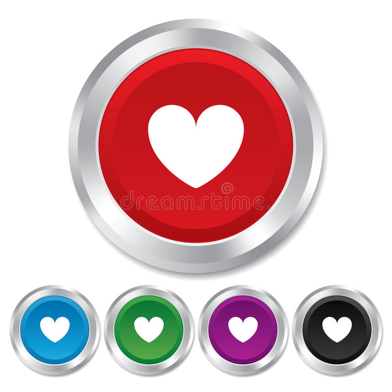 Heart sign icon. Love symbol. royalty free illustration