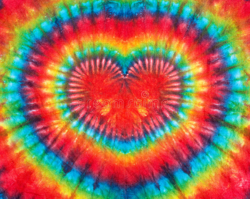 Heart sign tie dye pattern background. royalty free stock images
