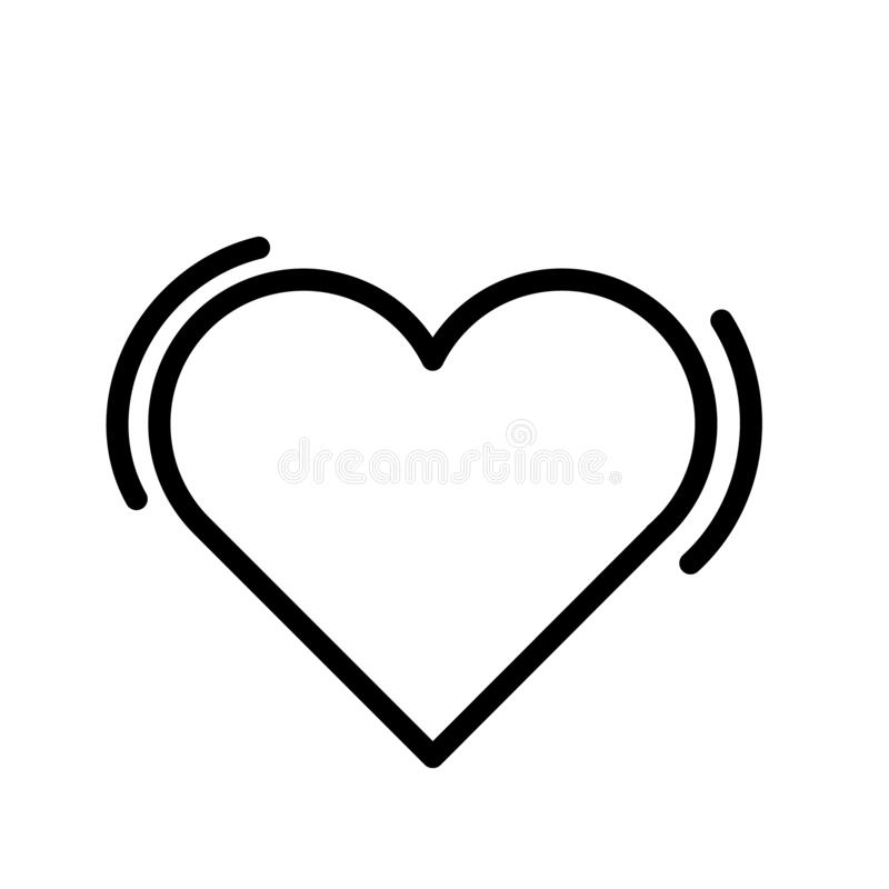 White Heart With Black Outline SVG Vector, White Heart With Black Outline  Clip art - SVG Clipart